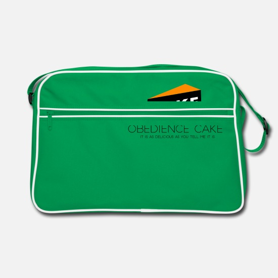 Hipster Bags & Backpacks - Obedience Cake - Retro Bag kelly green/white