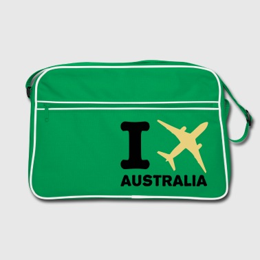 I fly - Australia - travel - Retro Bag