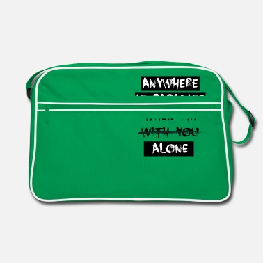 anywhere is paradise when - Retro Bag