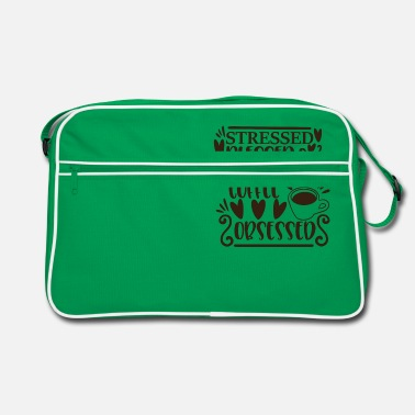 Hello stressed blessed and coffee obsessed - Retro Bag