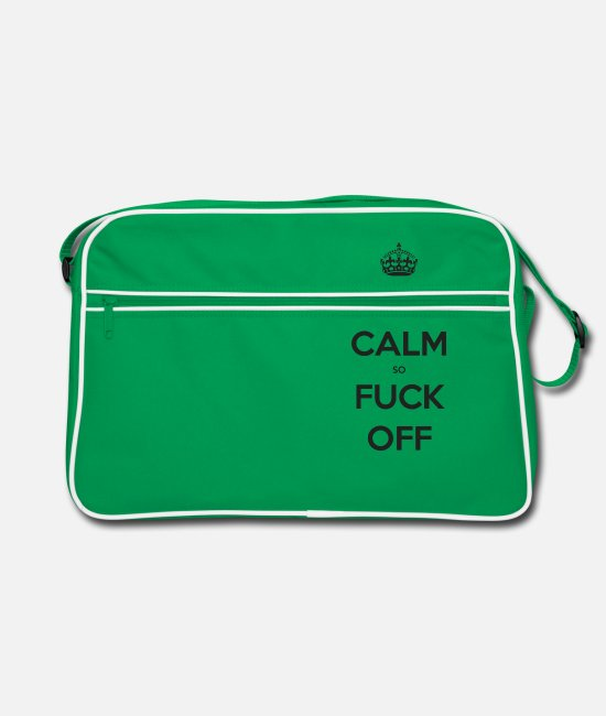 Calm Bags & Backpacks - keep - Retro Bag kelly green/white