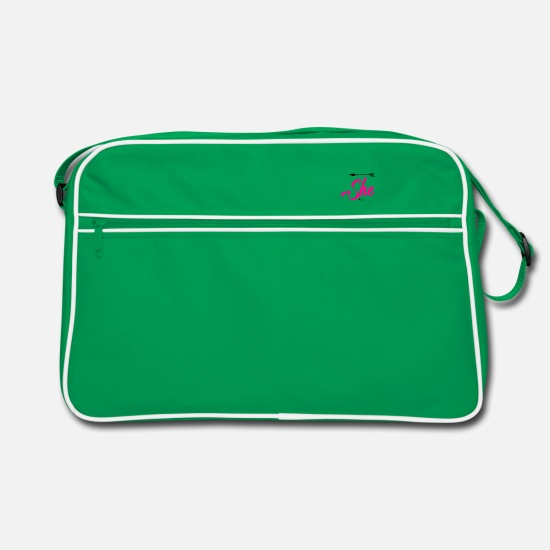 Girlfriend Bags & Backpacks - Girlfriend - Retro Bag kelly green/white