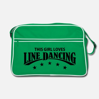 Country THIS GIRL LOVES LINE DANCING - Retro Tasche