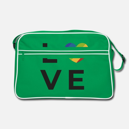 Gay Pride Bags & Backpacks - Gay Pride - Retro Bag kelly green/white