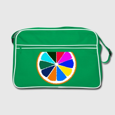 Orange - a really colorful fruits - Retro Bag