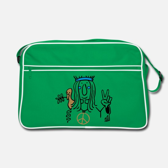 Hippie Bags & Backpacks - Hippie - Retro Bag kelly green/white