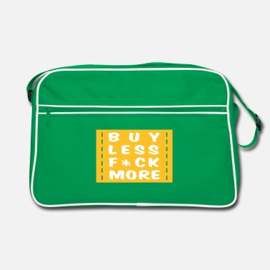 Grappig buy less fuck more 2 - Retro-tas