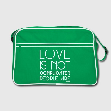 People are complicated not Love, Francisco Evans ™ - Retro Tasche