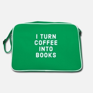 Poet I Turn Coffee Into Books - Retro Bag