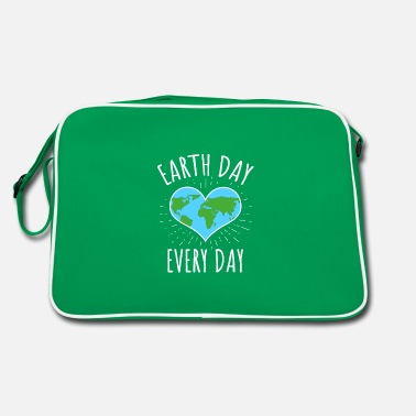 Lets Save The Earth Day Every Day - climate change - Retro Bag