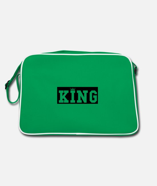 Quote Bags & Backpacks - king - Retro Bag kelly green/white
