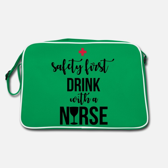 Practical Nurse Laukut ja reput - Safety first drink with a nurse - Retrolaukku kelly vihreä/valkoinen