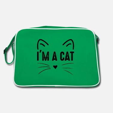 Saying I am a cat costume - Retro Bag