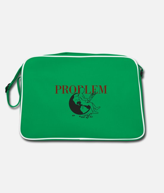Earth Bags & Backpacks - problem - Retro Bag kelly green/white