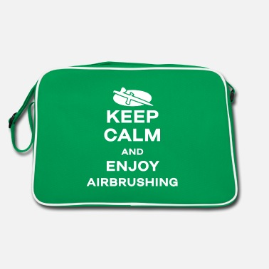 Keep Calm Paint airbrush airbrush painter airbrush gun - Retro Bag
