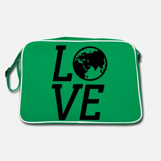 Love Bags & Backpacks - earth - Retro Bag kelly green/white