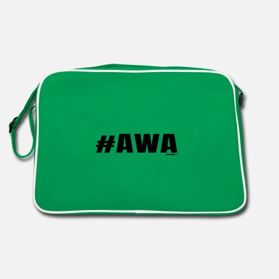 Swabia Bags & Backpacks - The Swabian expresses his astonishment - Retro Bag kelly green/white