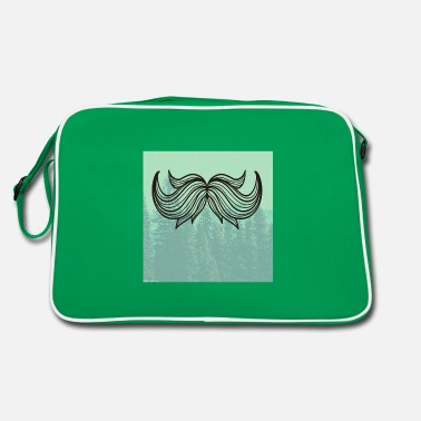 Fathers Day Underwear Hipster beard beard in the forest - Retro Bag