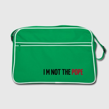 Papst - Pope - I am not the pope - Kirche - Religion - Retro Tasche