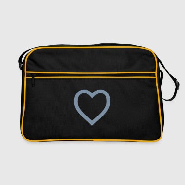 Heart outline - Retro Tasche
