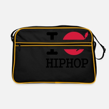 Rap I dj / play / listen to hiphop - Retrotasche