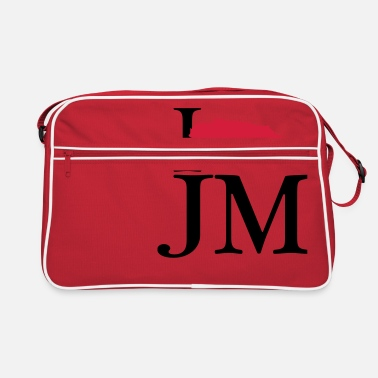 Jm Jamaica I love JM - I love Jamaica - Retro Bag