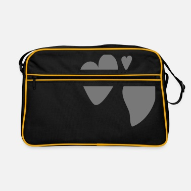 Triple triple heart - Retro Bag