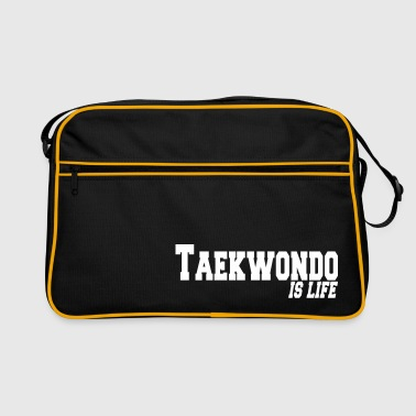 taekwondo is life - Retro taske