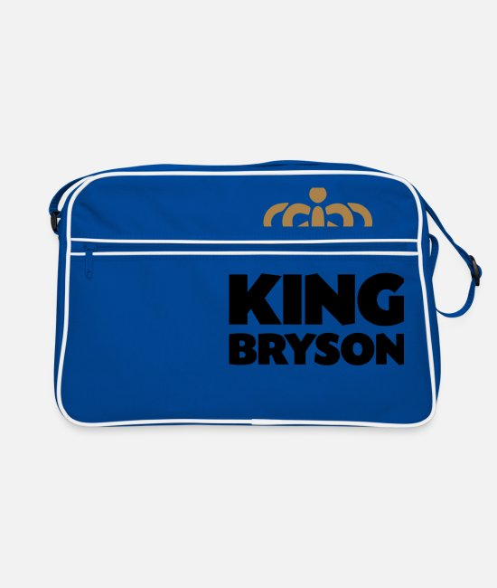 Crown Bags & Backpacks - King bryson name thing crown - Retro Bag blue/white