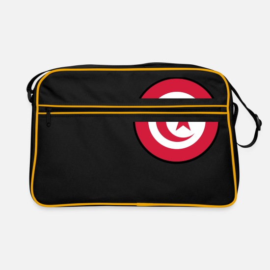 Revolution Bags & Backpacks - Tunisia, تونس, Tunesien, Túnez, Flaggen, flags, - Retro Bag black/gold