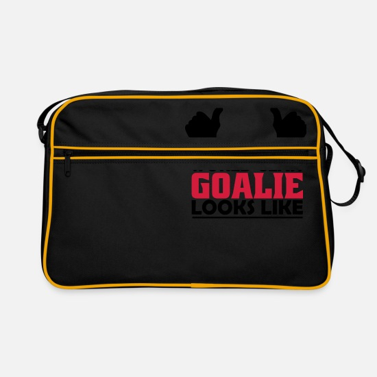 Goalie Bags & Backpacks - world class goalie - Retro Bag black/gold
