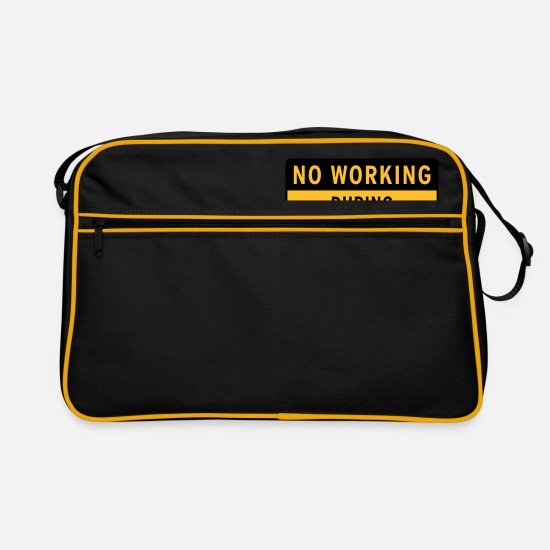 Friday Evening Bags & Backpacks - No working during drinking - Retro Bag black/gold
