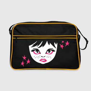 girlie face girl gesicht - Retro-tas