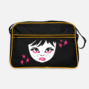 Girlie girlie face girl gesicht - Retro-tas
