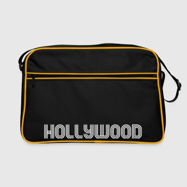 hollywood 70er Schrift Lounge  - Retro Tasche