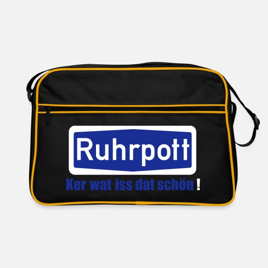Gelsenkirchen Bags & Backpacks - Ruhrpott_Wat_is_dat_schön - Retro Bag black/gold