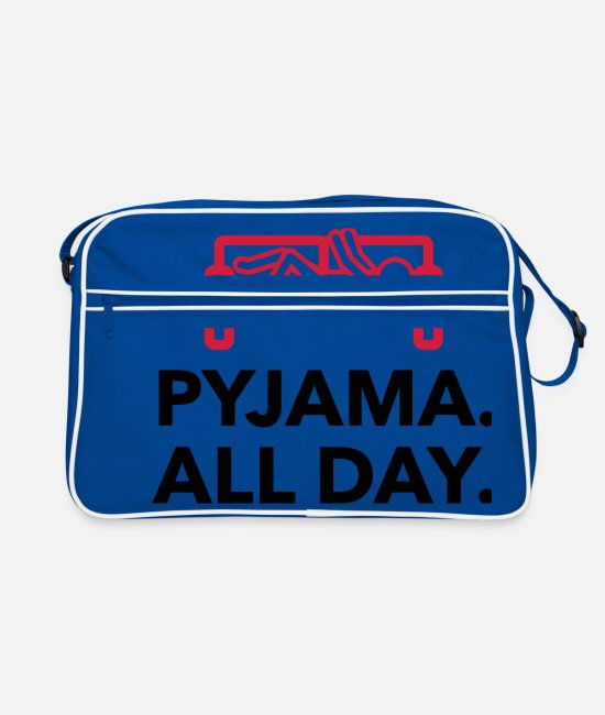 Bed Bags & Backpacks - Throughout the day in your pajamas! - Retro Bag blue/white
