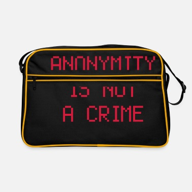 Freiheit anonymity is not a crime - Retrotasche
