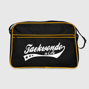 taekwondo is life - retro - Retro Tasche