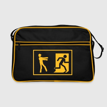 zombie invasion emergency exit - Retro Bag