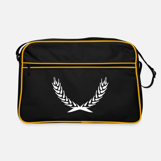 Wreath Bags & Backpacks - ears - Retro Bag black/gold