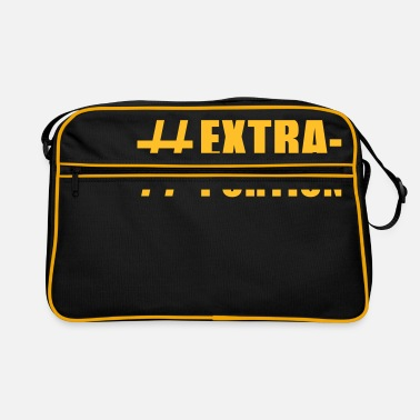 Tasty Underwear lustige Motive: extra portion - Retro Bag