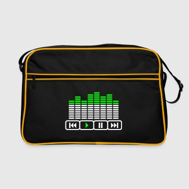 player music Equalizer DJ tasten - Retro-tas