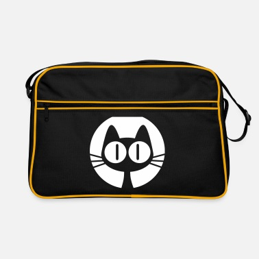 Graphic Art Moon Cat Cartoon by Cheerful Madness!! online shop - Retro Bag