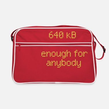 Saying 640 kB for anybody - Retro Bag
