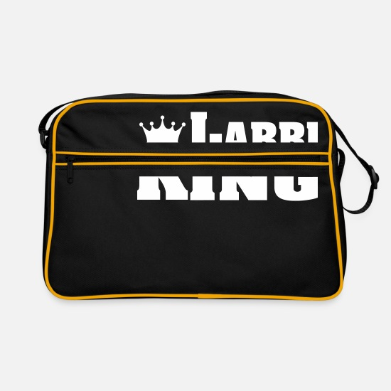 Labrador Bags & Backpacks - LABBI KING Labrador Retriever - Retro Bag black/gold