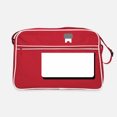 Namensschild namensschild leer - Retrotasche