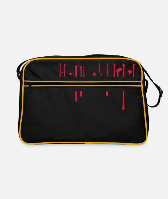 Halloween Bags & Backpacks - Blood drops - Retro Bag black/gold
