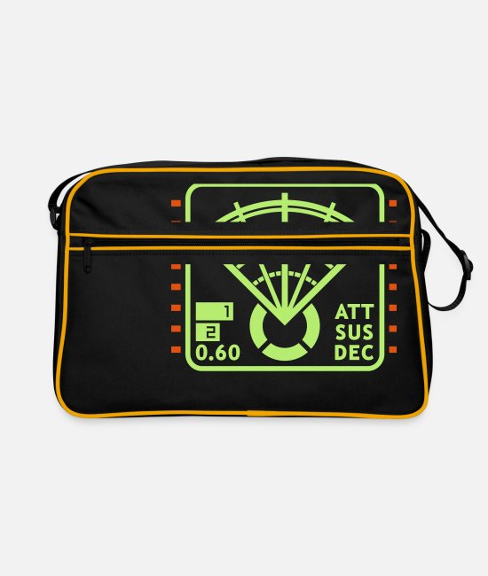 Video Game Bags & Backpacks - Motion Tracker Display - Retro Bag black/gold