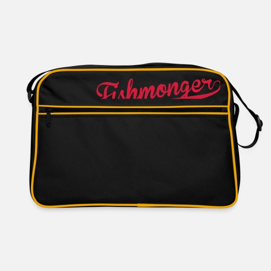 Boss Bags & Backpacks - Fishmonger / Fischhändler / Fish / Poissonnier - Retro Bag black/gold
